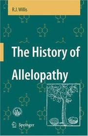 Cover of: The History of Allelopathy | R.J. Willis
