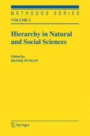 Hierarchy in Natural and Social Sciences (Methodos Series) by Denise Pumain