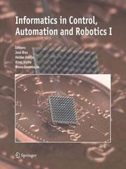 Cover of: Informatics in Control, Automation and Robotics I |