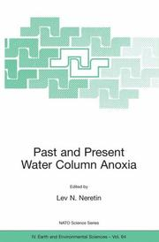 Cover of: Past and Present Water Column Anoxia
