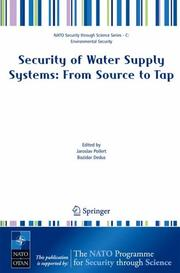 Cover of: Security of water supply systems |