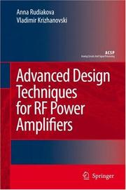 Cover of: Advanced design techniques for RF power amplifiers |