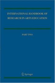 Cover of: International Handbook of Research in Arts Education 2-volume set