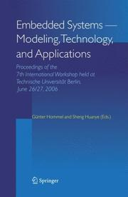 Embedded Systems -- Modeling, Technology, and Applications by