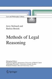 Cover of: Methods of legal reasoning