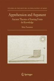 Cover of: Apprehension and Argument