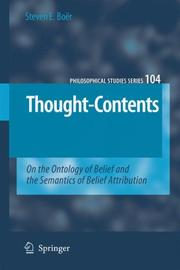 Cover of: Thought-Contents