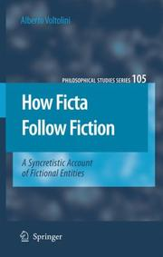 Cover of: How ficta follow fiction
