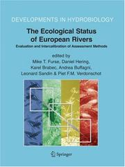Cover of: The Ecological Status of European Rivers |