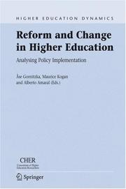 Cover of: Reform and Change in Higher Education |