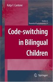 Cover of: Code-switching in Bilingual Children (Studies in Theoretical Psycholinguistics)