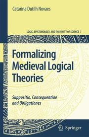 Cover of: Formalizing Medieval Logical Theories