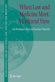 Cover of: When Law and Medicine Meet | Lola Romanucci-Ross