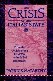 The crisis of the Italian state by McCarthy, Patrick