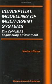 Cover of: Conceptual modelling of multi-agent systems
