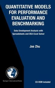 Cover of: Quantitative Models for Performance Evaluation and Benchmarking | Joe Zhu