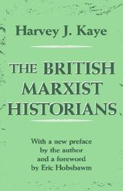 Cover of: The British Marxist historians