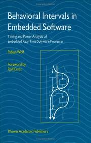 Cover of: Behavioral intervals in embedded software