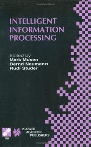 Cover of: Intelligent Information Processing (IFIP International Federation for Information Processing) |