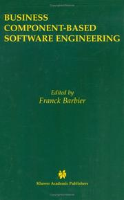 Cover of: Business Component-Based Software Engineering