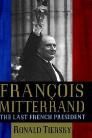 Cover of: Francois Mitterand | Ronald Tiersky