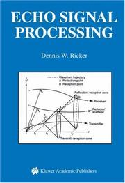 Cover of: Echo Signal Processing