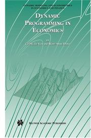 Cover of: Dynamic programming in economics | Cuong Le Van