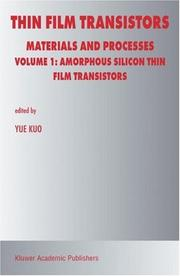 Cover of: Thin Film Transistors