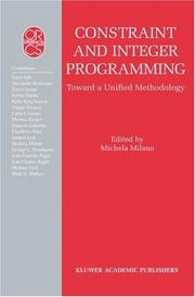 Cover of: Constraint and Integer Programming