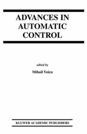Cover of: Advances in Automatic Control