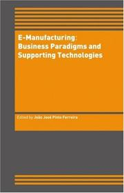 Cover of: e-Manufacturing