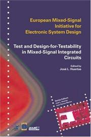 Cover of: Test and Design-for-Testability in Mixed-Signal Integrated Circuits