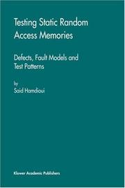 Cover of: Testing static random access memories