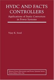 Cover of: HVDC and FACTS controllers