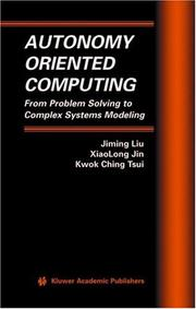 Cover of: Autonomy oriented computing |