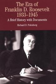 Cover of: The era of Franklin D. Roosevelt 1933-1945