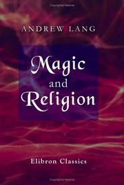 Cover of: Magic and religion