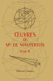 Cover of: oeuvres de Mr. de Maupertuis: Tome 2