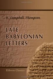 Late Babylonian letters by Reginald Campbell Thompson