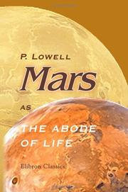 Cover of: Mars as the abode of life