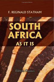 Cover of: South Africa as it is
