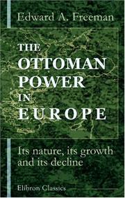 Cover of: The Ottoman power in Europe