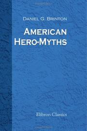Cover of: American hero-myths