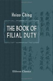 Cover of: The Book of Filial Duty | Ching Hsiao