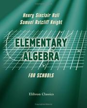 Cover of: Elementary Algebra for Schools