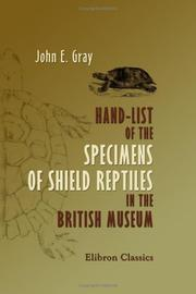 Cover of: Hand-list of the Specimens of Shield Reptiles in the British Museum