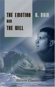 Cover of: The Emotions and the Will