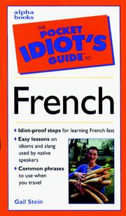 Cover of: The Pocket Idiot's Guide to French Phrases