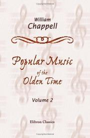 Cover of: Popular Music of the Olden Time
