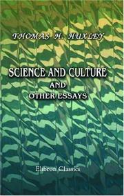 Cover of: Science and culture, and other essays